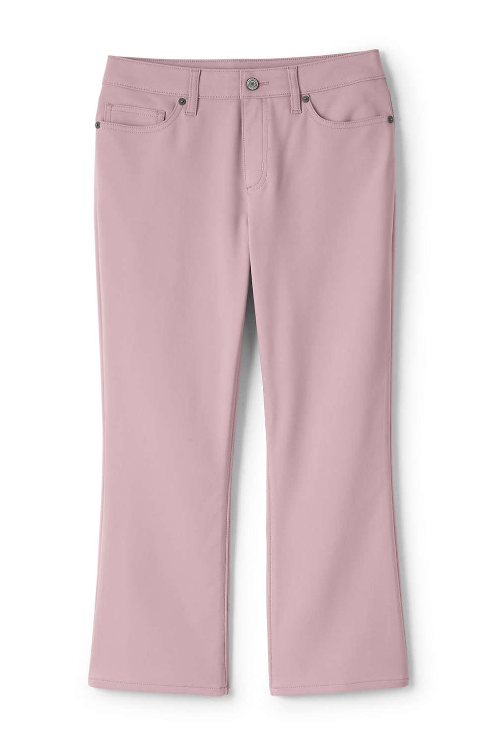 435557ef153 Women s Plus Size Mid Rise Kick Crop Pants from Lands  End
