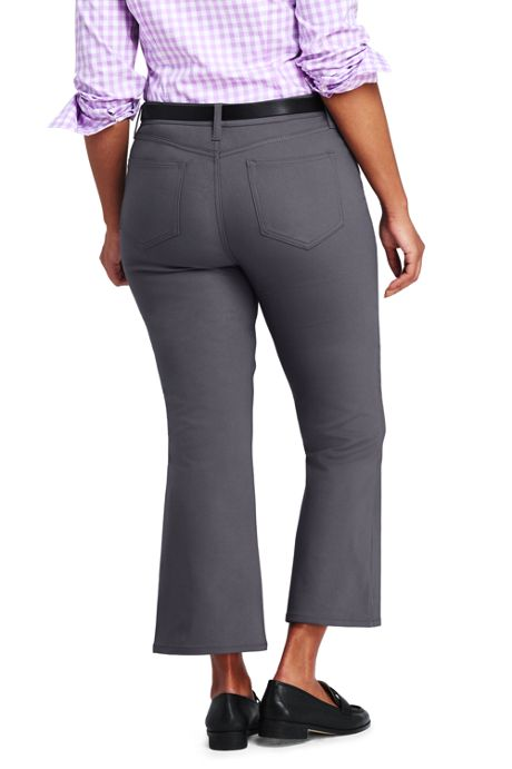 Women's Plus Size Mid Rise Kick Crop Pants