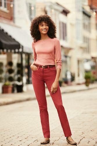 Women's Tall Chino Mid Rise Straight Leg Pants