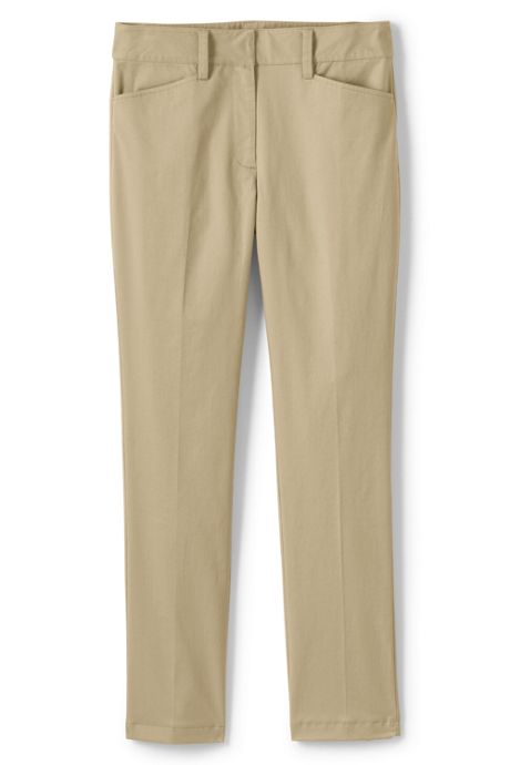 Women's Plus Petite Mid Rise Chino Straight Leg Pants