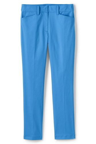 Women's Mid Rise Straight Leg Chino Trousers