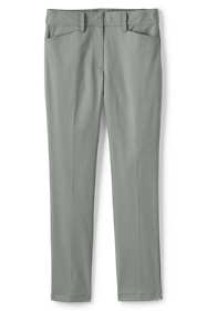 Women's Plus Size Petite Chino Mid Rise Straight Leg Pants