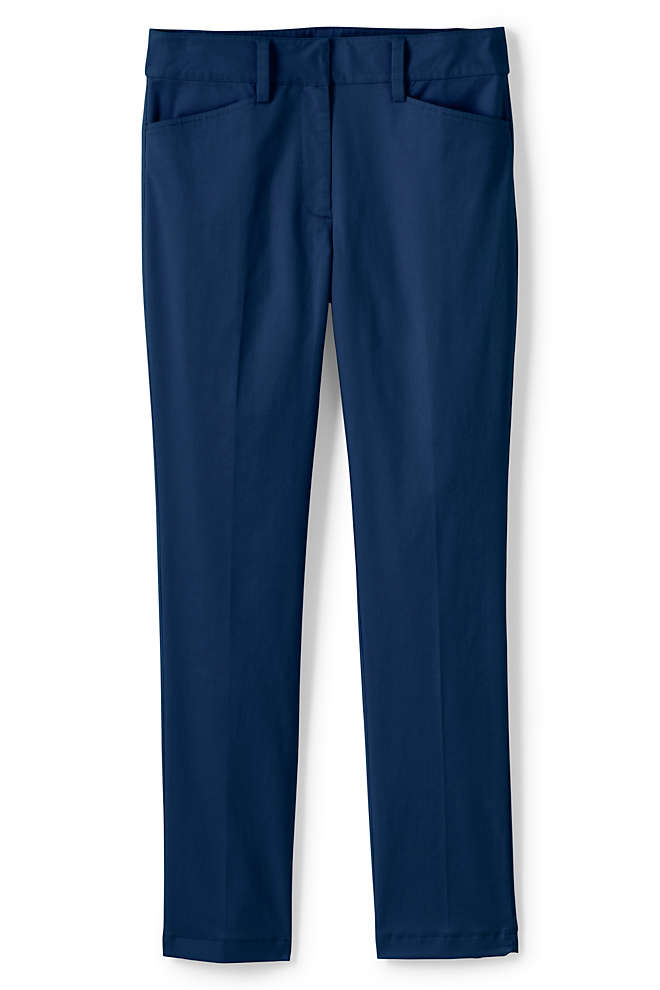 Women's Tall Chino Mid Rise Straight Leg Pants, Front