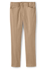 Women's Plus Petite Chino Mid Rise Straight Leg Pants