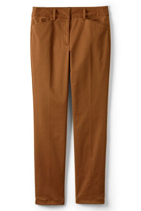 Women's Plus Size Chino Mid Rise Straight Leg Pants