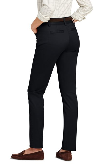 Women's Tall Mid Rise Chino Straight Leg Pants