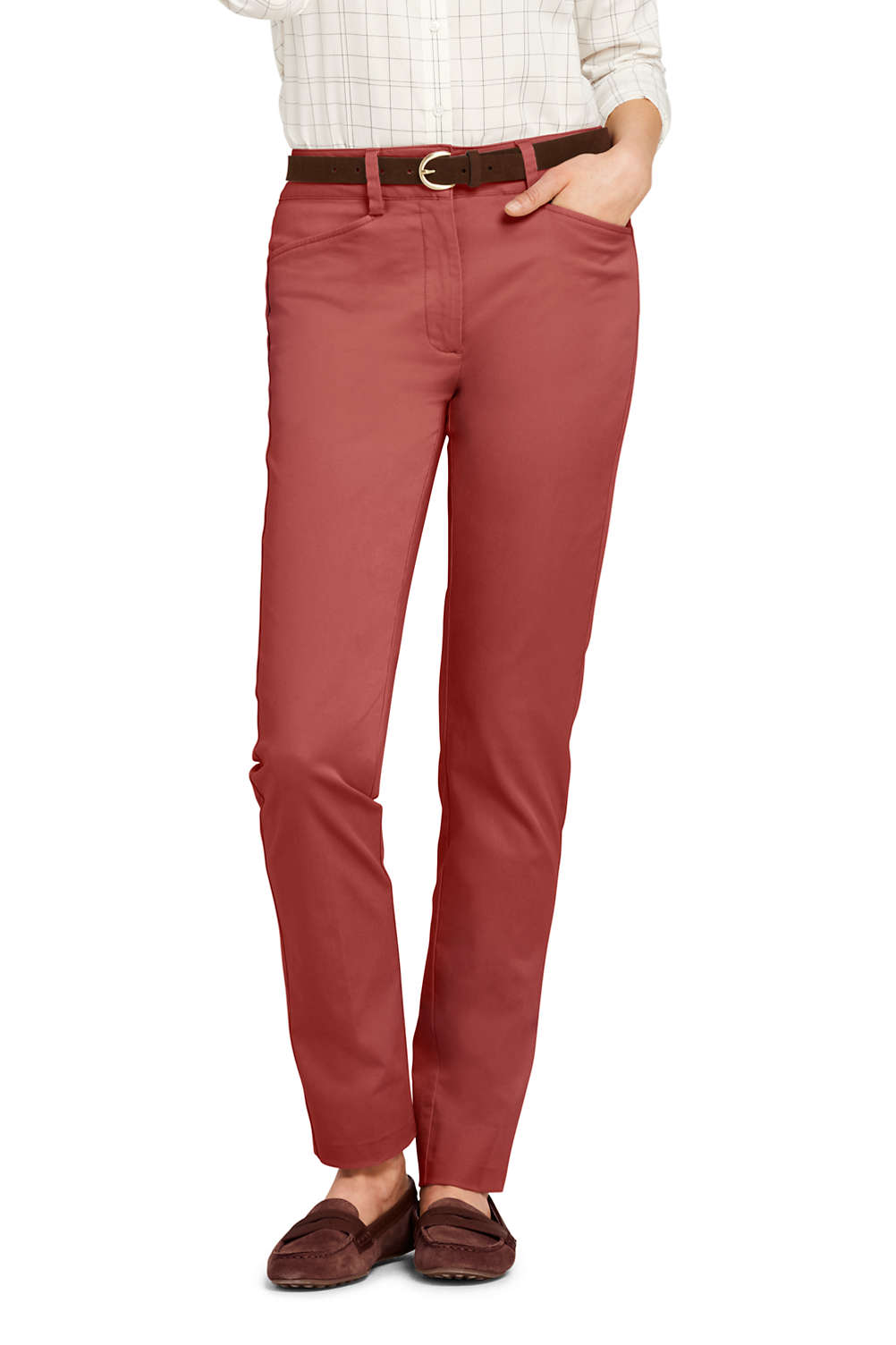 d08bf0c3ac4 Women's Chino Mid Rise Straight Leg Pants from Lands' End