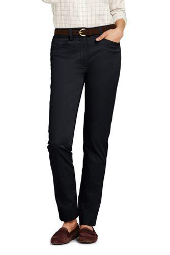 Women's Mid Rise Straight Leg Chino Trousers