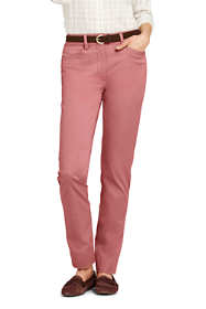 Women's Mid Rise Chino Straight Leg Pants