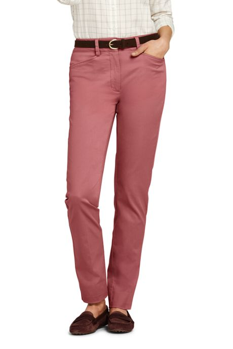 Women's Tall Mid Rise Chino Straight Leg Pants