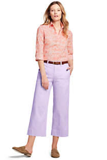 Women's Tall Mid Rise Chino Wide Leg Crop Pants, alternative image