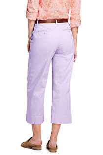 Women's Tall Mid Rise Chino Wide Leg Crop Pants, Back