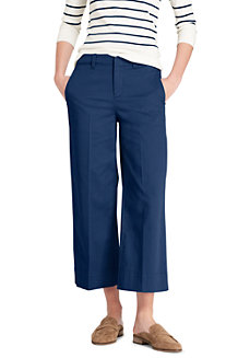 Women's Mid Rise Wide Leg Cropped Chinos
