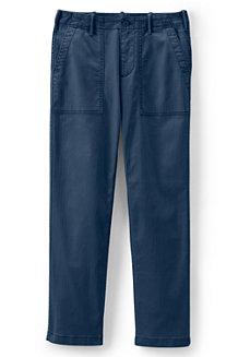 Le Pantalon Chino Droit Stretch à Grandes Poches, Femme
