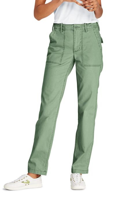 Women's Petite Mid Rise Field Chino Pants