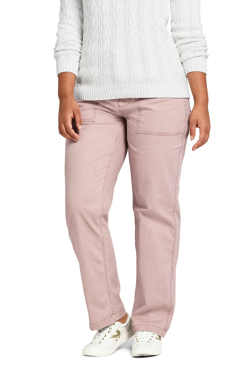 ddb077be9490 Women s Plus Size Mid Rise Field Chino Pants from Lands  End