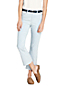 Women's Mid Rise Striped Kick Cropped Jeans