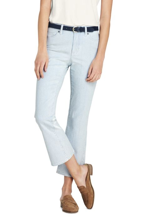 Women's Petite Mid Rise Kick Crop Pants