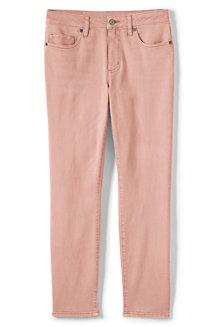 Knöchellange Twill-Jeans im Slim Fit für Damen