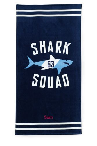 Kids' Printed Velour Beach Towel