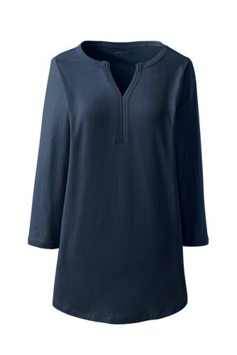 Women's Plus Lightweight Notch Neck Top