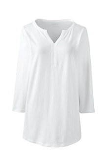 Langes Shirt mit Tunika-Ausschnitt für Damen