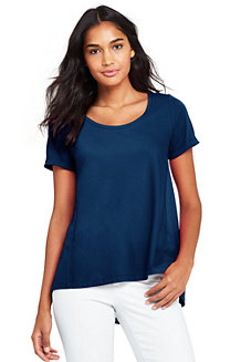 Le T-Shirt Ample en Coton Modal Stretch, Femme