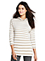 Le Hoodie Rayé Stretch Manches 3/4, Femme Stature Standard
