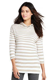 Women's Petite Mixed Stripe Hoodie