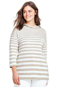 Women's Plus Size Mixed Stripe Hoodie