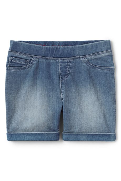 Little Girls Denim Jegging Shorts