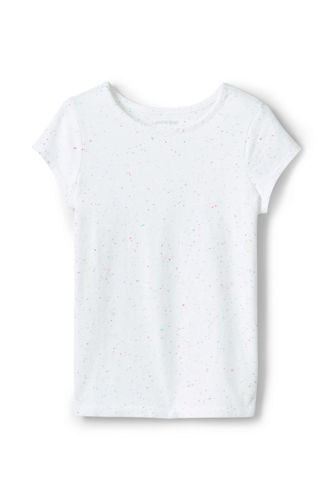 Toddler Girls' Cotton Flecked T-shirt