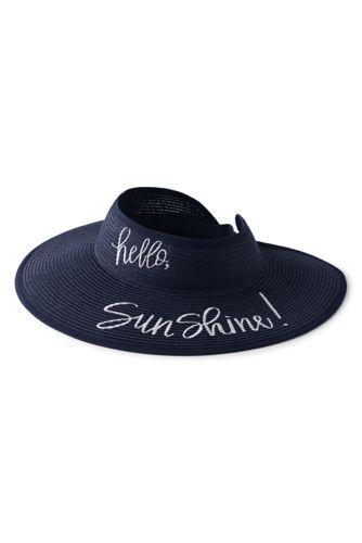 Women's Packable Straw Sun Visor