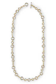 Women's Mixed Metals Chain Link Long Necklace