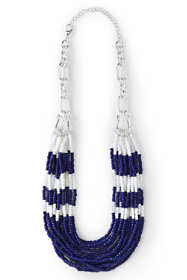 Women's Multi Strand Beaded Necklace