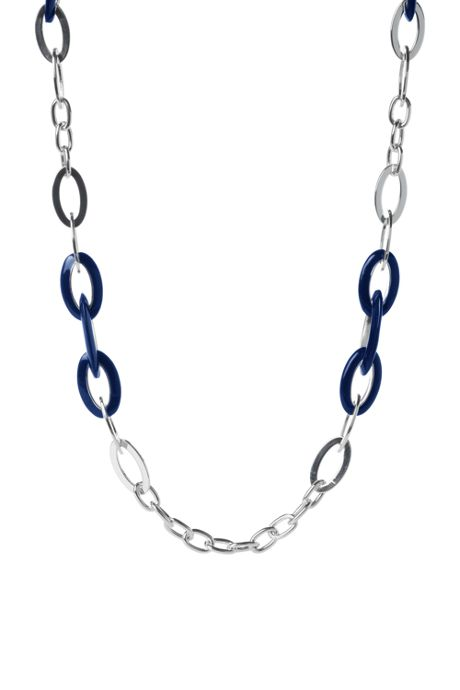 Women's Resin Chain Link Long Necklace