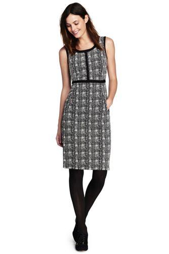 Women's Scoop Neck Jacquard Ponte Sheath Dress