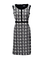 Women's Scoop Neck Jacquard Ponte Sheath Dress
