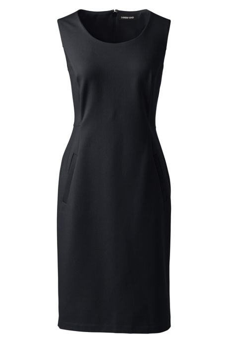 Women's Plus Size Sleeveless Scoopneck Ponte Sheath Dress