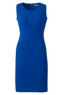 Women's Sleeveless Scoop Neck Ponté Sheath Dress