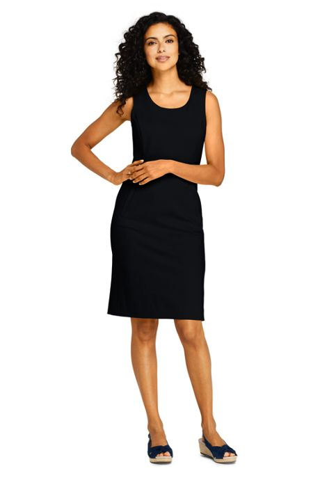 Women's Tall Sleeveless Scoopneck Ponte Sheath Dress