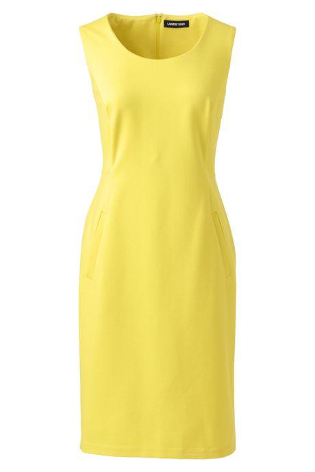 Women's Plus Size Sleeveless Scoopneck Ponte Sheath Dress