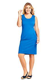e6487cd9936 Women s Plus Size Sleeveless Scoopneck Ponte Sheath Dress
