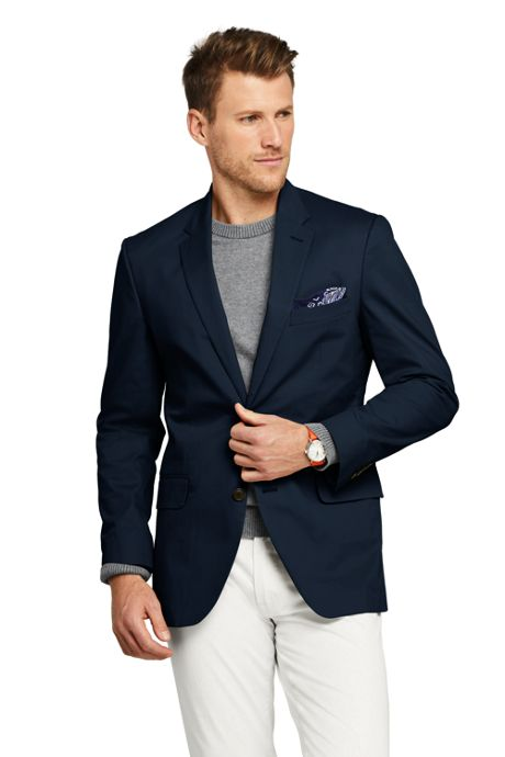 Men's Tailored Fit Stretch Chino Suit Jacket
