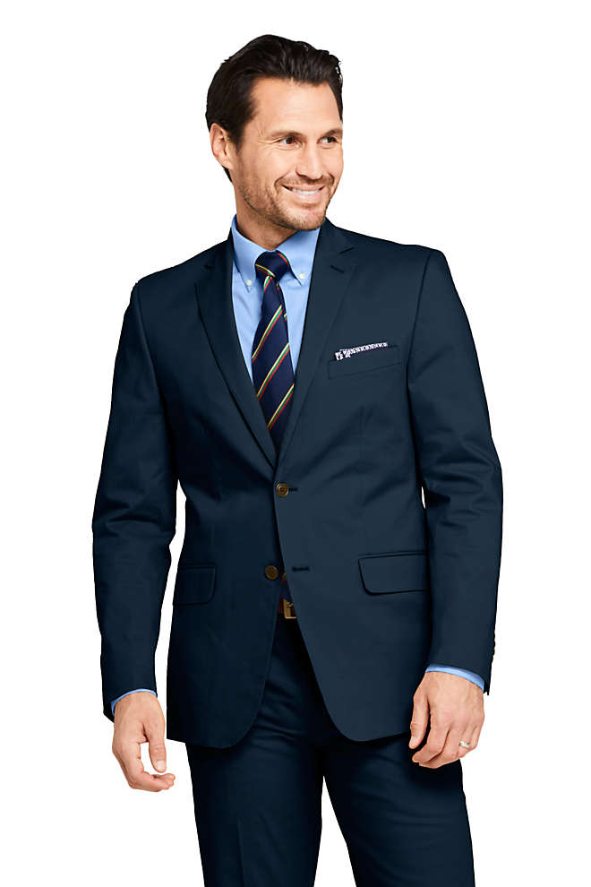 Men's Traditional Fit Stretch Chino Suit Jacket, Front
