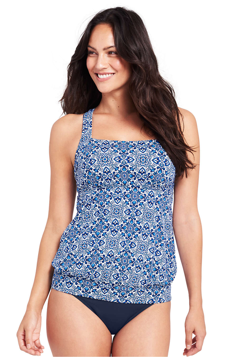 6a19fd75ebb37 Women's Blouson Tankini Top from Lands' End