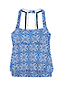 Women's Beach Living Blouson Tankini Top Majolica Tile