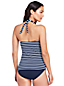 Women's Beach Living Striped Twist Tankini Top