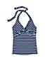 Women's Beach Living Striped Twist Tankini Top