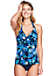Women's Beach Living Rose Print Twist Tankini Top